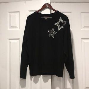 Michael Kota Black Star embroidered Sweater Sz L